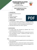 Bases Campeonato de Futsal Varones