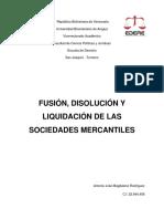 Fusion, disolucion y liquidacion de las sociedades mercantiles - Antonio Jose Magdaleno