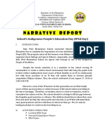Narative report on IPED