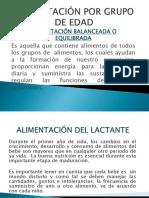 ALIMENTACIÓN POR GRUPO DE EDAD