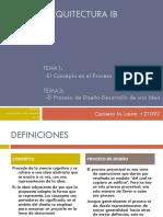El Concepto en el Proceso de Diseño - El Proceso de Diseño-Desarrollo de una Idea