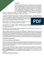 FUENTES DE RECURSOS DEL ESTADO