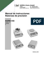 Balanza digital (kern)