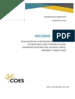 COES DP-SPL-07-2018-Informe_Prospectiva de suministro eléctrico al sur