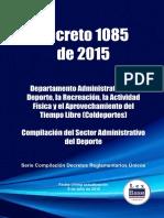 Decreto 1085 de 2015 Coldeportes, lucero velasquez, presidente liga de natación de cundinamarca