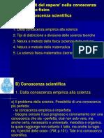 Dalla conoscenza empirica alla scienza