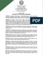 Declaration of Public Health Emergency for Bexar County