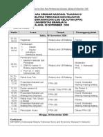 Jadwal Presentasi Seminar Nasional