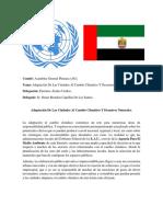 Documento De Posición - Emiratos Árabes Unidos
