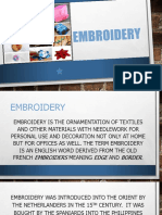 Embroidery PPT