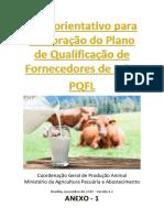 Guia orientativo para elaboração do Plano de Qualificação de Fornecedores de Leite - PQFL