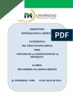 Historia de la Constitución de la República_ Iris Villanueva