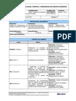 PTO-A-050-001 VIGILANCIA CONTROL Y PREVENCION EVENTOS ADVERSOS
