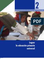 2- Lograr la Educación Primaria Universal