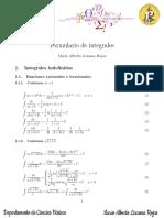 Fórmulas de integración