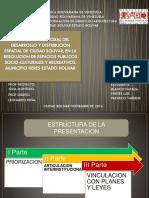 desarrollo y distrubucion espacial de ciudad bolivar, resolucion de espacios publicos socioculturales