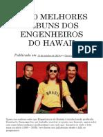 Os 10 Melhores Álbuns dos Engenheiros do Hawaii - Metaficção