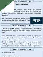 Acoes Possessorias - CPC