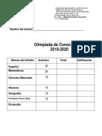 examen olim. 2020