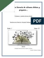 Antología literaria de refranes dichos y pregones