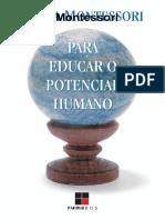 (Montessori) Maria Montessori - Para Educar o Potencial Humano-Papirus Editora (2014).pt.es