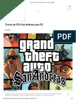 Trucos de GTA San Andreas para PC_ claves y códigos.pdf