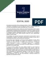 Edital extensão 2020