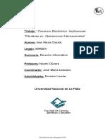 Comercio Electrónico Implicancias Tributarias en  Operaciones Internacionales-Daciuk