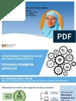 Transformasi pendidikan dalam era IR4.0 pic ( Dr Habibah)