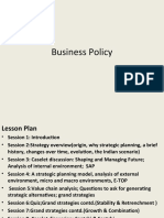 Business Policy(Batch 15) Updated
