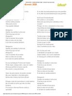MANGUghjEIRA - SAMBA-ENREDO 2020 - Samba-Enredo (Impressão)