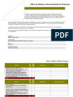 Copia de Indices de Madurez Gerenciamiento de Proyecto CIEETS JUNIO 2017 Danilo