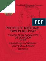 Proyecto Nacional Simon Bolivar 2007 2013