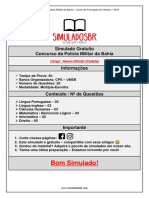 Simulado Gratuito - CFO PM - Bahia