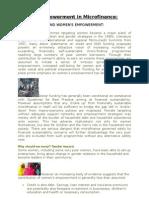 Women Empowerment in Micro Finance