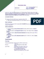 Ramana Network Engineer & System Administrator CV