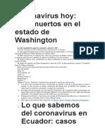 Coronavirus hoy