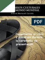 """Comentarios Libro """"Itinerarios Culturales y Patrimonio Mundial"""" de Alberto Martorell"""