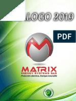 CATALOGO DE PRODUCTOS MATRIX 2019