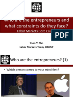 Entrepreneurs and Constraints - LMCC2013 - Cho (1)
