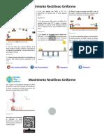 Movimiento Rectilíneo Uniforme MRU - Ejercicios Resueltos PDF