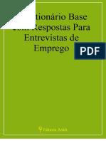 Questionário Base com Respostas Para Entrevistas de Emprego
