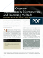 Ceramics overview classification by microstructure and processing methods.