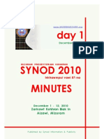 Synod 2010 Minutes - Day 1