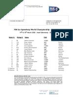 Starting List - FIM Ice Speedway World Championship Final 7 and 8- Inzell GER -14-15.03.2020