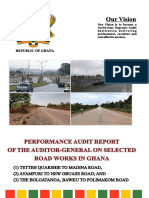 Auditor-General's report on selected road works in Ghana