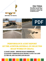 Auditor-General's report on selected roads
