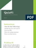 Quiz#1 stress CE 201
