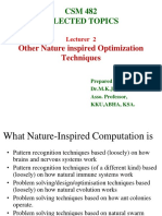 Chapter 3 _Lecturer 2 Other Nature inspired Optimization Techniques