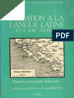 Initiation à la langue latine et à son système by Simone Deléani, Jean-Marie Vermander, Jean Beaujeu (dir.) (z-lib.org)